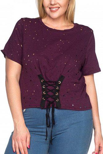 Waist Lace Up Shirts