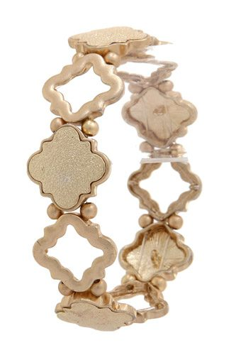 Quatrefoil Shape Stretch Bracelet