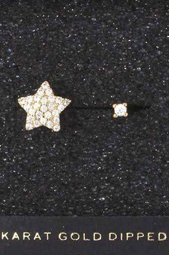 Star Rhinestone Charm Ring