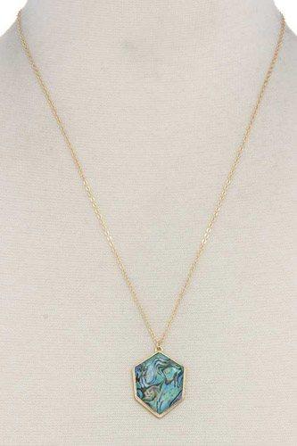 Organic Shape Pendant Necklace