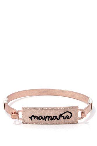 Mama Bear Metal Bar Bracelet