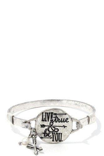 Live True & Be You Metal Bracelet