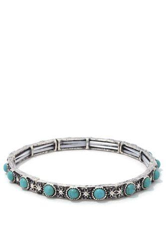 Circle Bead Metal Stretch Bracelet