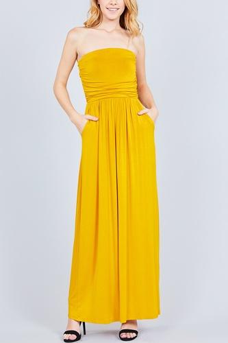 Rayon Modal Spandex Tube Top Maxi Dress