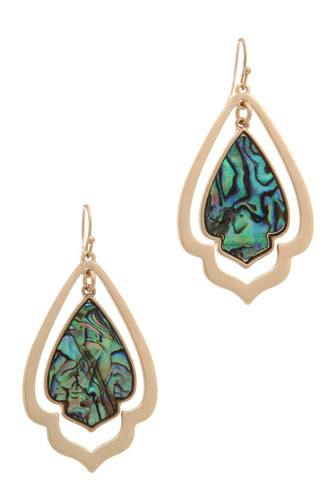 Double Moroccan Shape Drop Earring