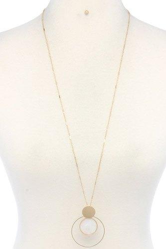 Cut Out Circle Pendant Necklace