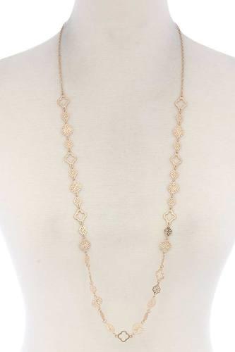 Moroccan Shape Loop Necklace