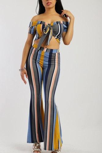 Striped, Two-piece Knit Set