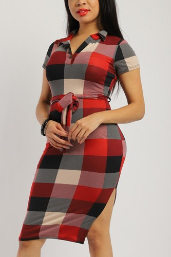 Plaid, Midi Tee Dress
