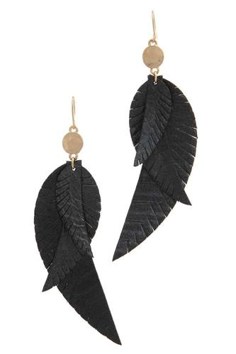 Genuine Leather Drop Earring