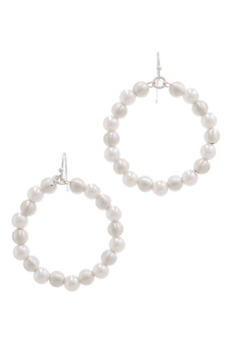 Beaded Circle Drop Earring