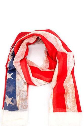 Designer American Flag Inspired Scarf