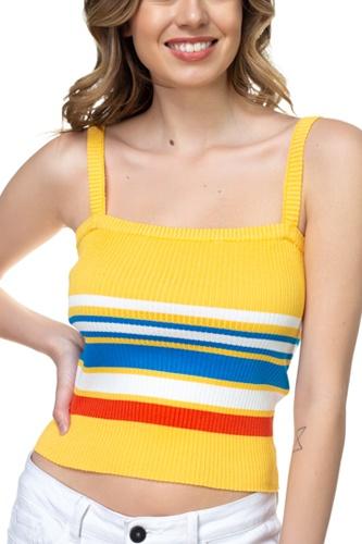 Stripe Sweater Cropped Top