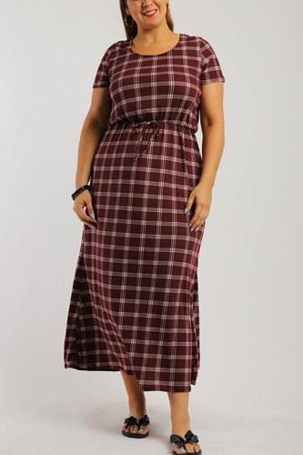 Plaid, Ankle Length Maxi Dress