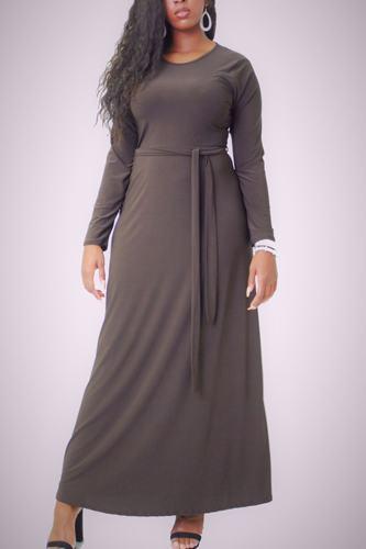 Solid, Maxi Dress