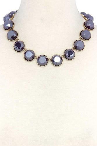 Circle Bead Short Necklace