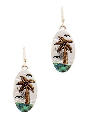 Designer Cute Sea And Palm Tree Earring