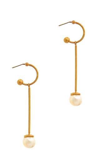 Fashion Liner Pear Drop Earring