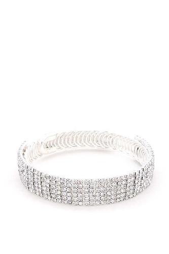 Rhinestone Flexible Metal Bracelet