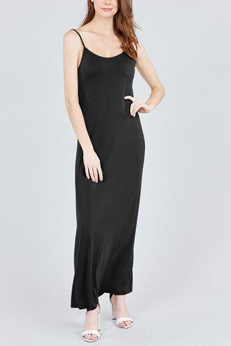 Double V-neck Cami Maxi Dress