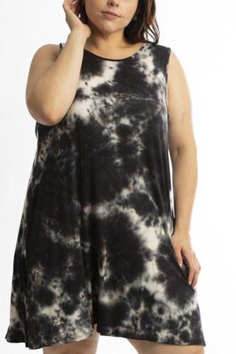 Sleeveless Summer Dress Featuring A Cross Back Detail