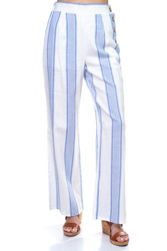 Multi Stripe Side Button Pants