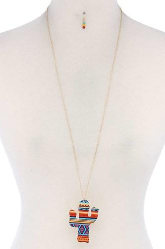 Cactus Pendant Necklace