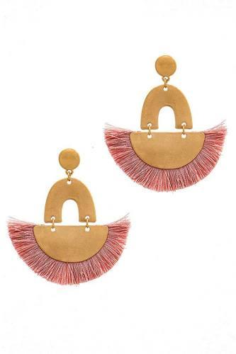 Trendy Fan Tassel Drop Chic Earring