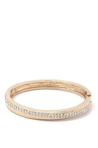 Rhinestone Metal Open Cuff Bracelet