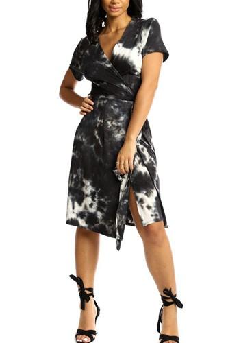 Wrapped Style Midi Dress