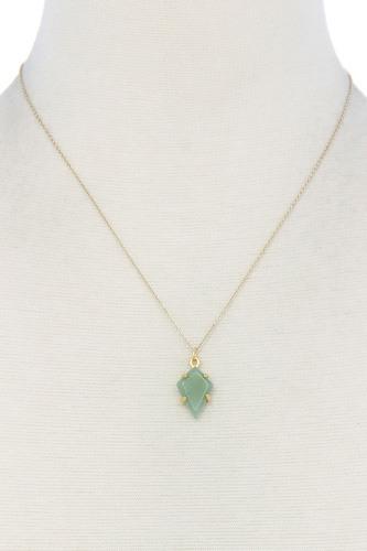 Modern Fashion Stone Pendant Necklace