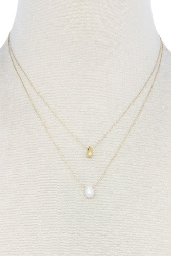 Modern Chic Double Layer Necklace