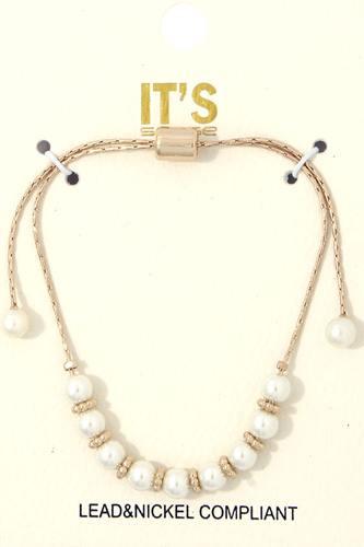 Pearl Bead Adjustable Bracelet