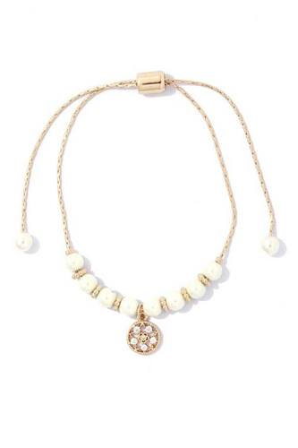Chic Pearl And Rhinestone Bracelet