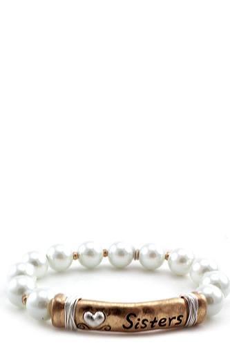 Sister Pearl Beaded Bracelet