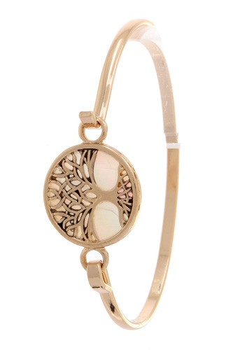 Oak Tree Metal Bracelet
