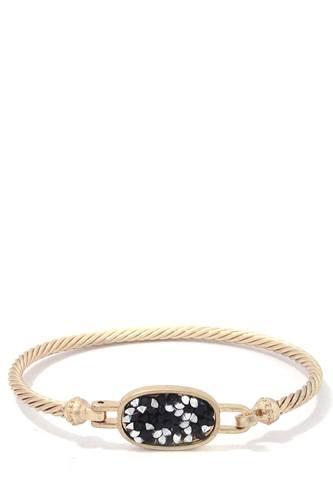 Oval Shape Metal Cuff Bracelet