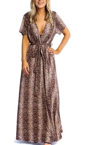 Elegant Plunging Neckline Maxi Dress