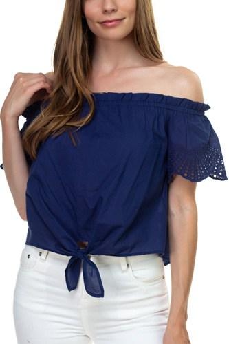 Off Shoulder Cutout Sleeve Top