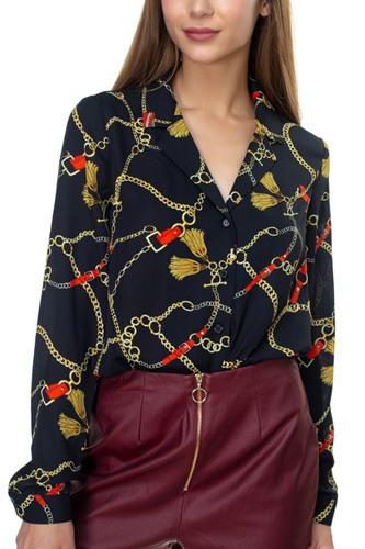 Chain & Tassel Button Down Shirt