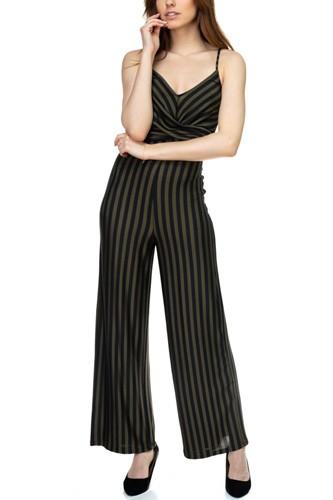 Stripe Front Twist Jumpsuit