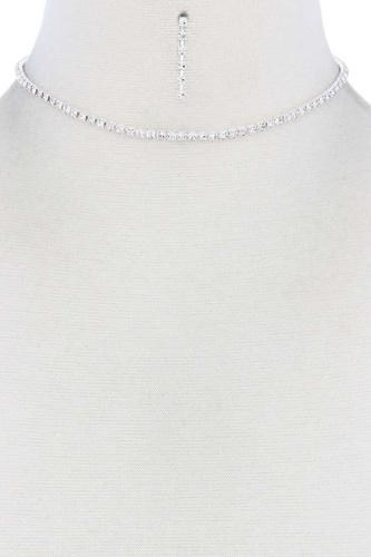 Dainty Rhinestone Choker Necklace