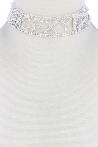 Sexy Rhinestone Choker Necklace