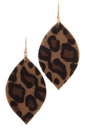 Animal Print Drop Earring