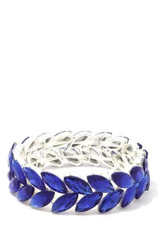 Marquise Shape Rhinestone Stretch Bracelet