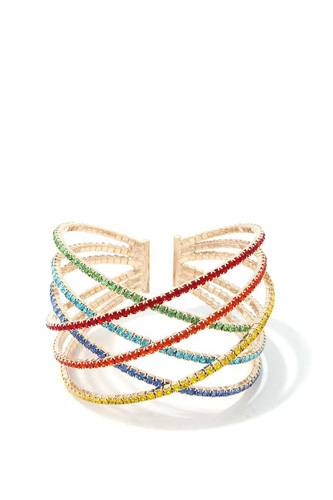 Criss Cross Rhinestone Bracelet