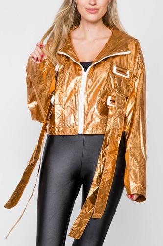 Cropped Lightweight Long Sleeve Jacket