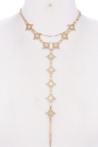 Metal Y Shape Necklace