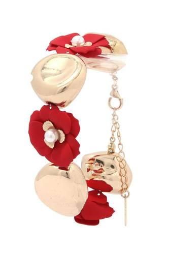 Flower Metal Bead Bracelet