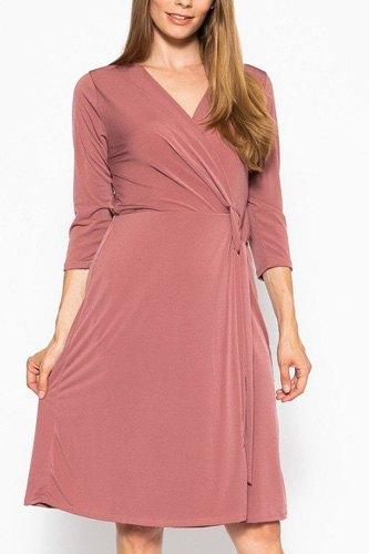 Midi 3/4 Sleeve Dress